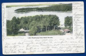 Hotel Breslin view of Lake Hopatcong New Jersey nj old postcard