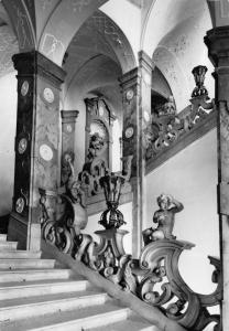 Vintage REAL PHOTO Postcard SALZBURG Mirabell Palace Marble Staircase AUSTRIA