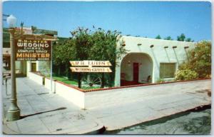1950s Yuma, Arizona Postcard R.H. LUTES WEDDING CHAPEL Street View Unused