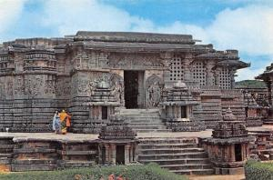 India Halebid Tempel Hoysalesvara Temple Entrance