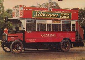 Schweppes Lemon Squash London Bus Poster Advertising Postcard