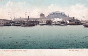 JERSEY CITY, New Jersey, PU-1908; Pennsylvania Railroad Depot