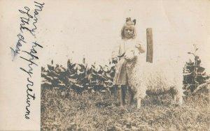 RP: WESTMINSTER , Vermont, 1909 ; Girl & Goat