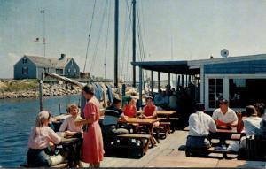 Massachusetts Cape Cod Harwich Port Thompson Brothers Clam Bar 1960