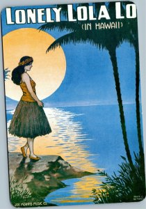 postcard Hawaii -Lonely Lola Lo