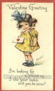 Artist Twelvetrees, Valentines Day Postcard Post Cards