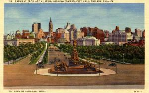 PA - Philadelphia. Parkway from Art Museum