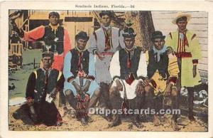 Published by EC Kropp Company Seminole Indians, Florida USA Postcard