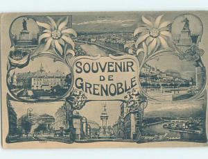 Many Views On One Postcard Grenoble In Auvergne-Rhone-Alpes Region France F5626