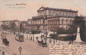 HANNOVER, Lower Saxony, Germany, PU-1903 ; Vor dem Hoftheater