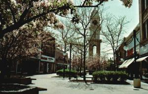 Dubuque, Iowa, IA, Town Clock Plaza, Chrome Vintage Postcard e9214