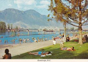Canada British Columbia Kamloops Beach Scene