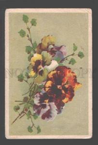 094721 Bouquet PANSY UnSign C. KLEIN Vintage Colorful PC