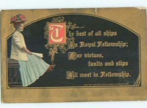 Divided-Back PRETTY WOMAN Risque Interest Postcard AA8014