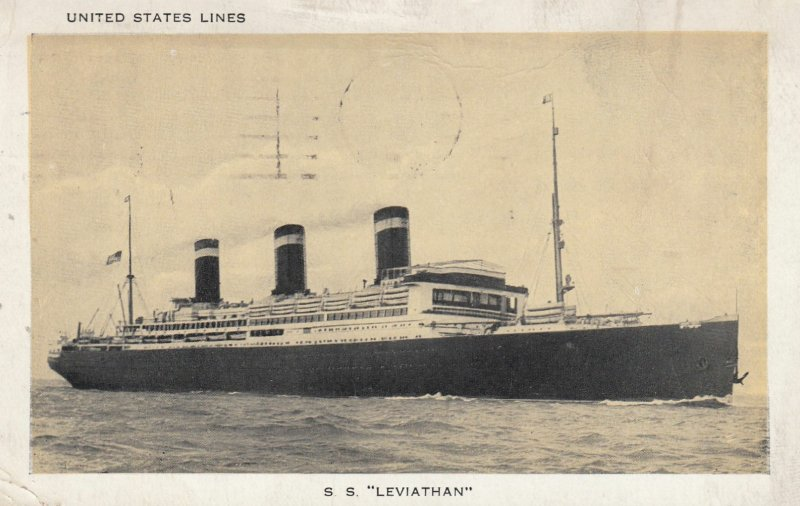 OCEAN LINER S.S. LEVIATHAN , 1928