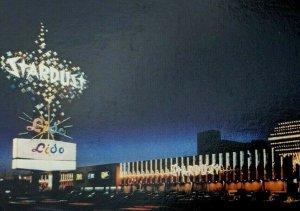 Postcard Las Vegas Nevada Stardust Hotel Vintag Casino Strip Night View Unposted