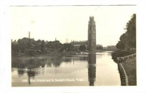 RP; River Witham & St Botolph's Church, Boston, England, 1910-30s