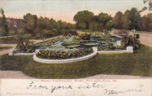 Lily Pond Fairmount Park Philadelphia Pennsylvania 1908