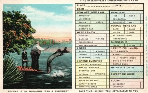 Vintage Postcard 1932 The Time Savers Easy Corresponding Card E.C. Kropp Co.