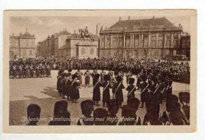 Kobenhavn, Amalienborg Plads med Vagtparaden, Denmark, PU-1927