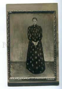 172683 Portrait Sister by Edvard MUNCH vintage RARE Postcard
