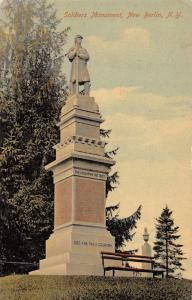 New Berlin New York Soldiers Monument Scenic View Antique Postcard J70850