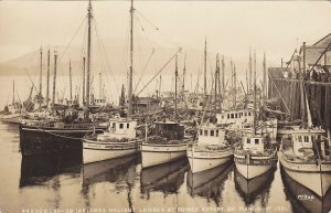 RP; Halibut Fishing Fleet , Prince Rupert , B.C. , Canada , 1921