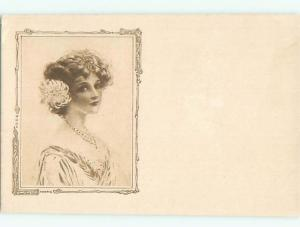 Divided-Back PRETTY WOMAN Risque Interest Postcard AA7878