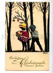 240219 SILHOUETTE by Hannes PETERSEN Vintage ART NOUVEAU PC