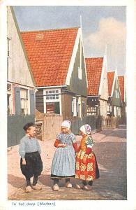 Marken Holland In het dorp Marken In het dorp