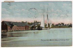 Thomaston, Maine, View on St. George River