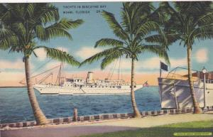 Yachts in Biscayne Bay, Miami,Florida,30-40s