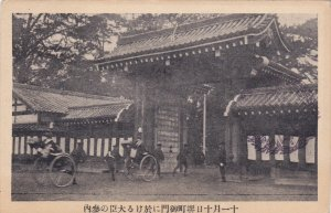 Hand pulled taxis in front of temple , Japan , 00-10s