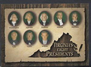 Politics Postcard - Virginia, America - Mother of Presidents  - Virginia's Ei...