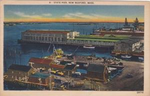 Massachusetts New Bedford The State Pier At Night 1949