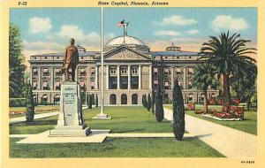 Linen View of State Capitol Phoenix Arizona AZ