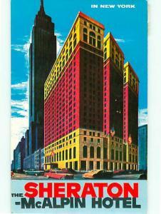 Sheraton McAlpin Hotel Broadway 34th Street Penn Station Times   Postcard # 7837