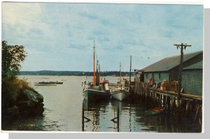 Beautiful Portland, Maine/ME Postcard, Fishing Boats/Harbor