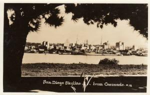 RP: SAN DIEGO, California, 30-40s; Skyline as seen from Coronado