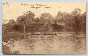 Allegan Michigan~Boaters Under Williams Thru Truss Bridge~1911 CU Williams PC