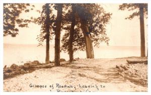 New York Plattsburg ,  Roadway leading to Junior's Camp , RPC