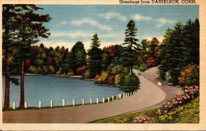 Connecticut Greetings From Danielson 1942