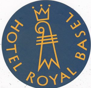 Switzerland Basel Hotel Royal Vintage Luggage Label sk4103