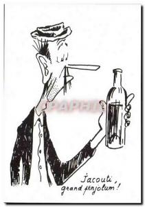 Postcard Modern Humor Drawing Charles Mouly Jacouti Grand Candleholders! alcohol