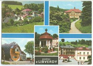 Pozdrav z Libverdy, Czech Republic, used Postcard