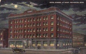Hotel Zumbro At Night Rochester Minnesota