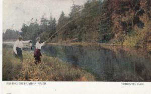 TORONTO, Ontario, 1900-10s ; Women fishing on Humber River