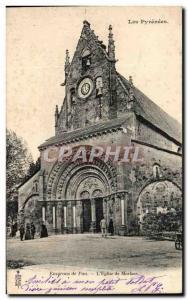 Old Postcard The Pyrenees Surroundings Of Pau L & # 39Eglise De Morlaas