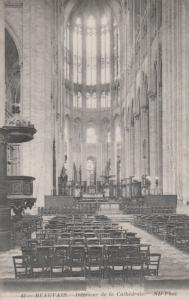 Beauvais Cathedrale Cathedral Interior Antique French Postcard