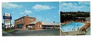 Fundy Line Motel, Pool, Moncton, New Brunswick Vintage Advertising Postcard